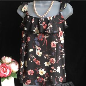 Maurice's Black Floral Fashion Top